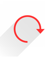 Flat red arrow icon reset sign on white background vector image