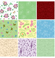floral backgrounds with flowers - seamless vector image vector image