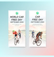 flyer template with world car free day concept vector image vector image