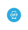 forbidden phone icon design template vector image vector image