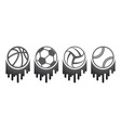 four balls brush set vector image