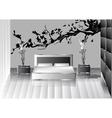grey bedroom vector image