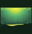 grunge urban underwater urban landscape vector image