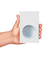 hand hold box vector image vector image