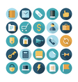 icons flat line business finance vector image vector image