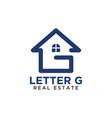 initial letter g home real estate logo design vector image vector image