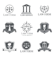 Law Firm set vector image vector image