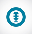 microphone icon bold blue circle border vector image vector image