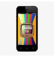Mobile tv vector image vector image
