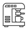 modern thin line icon of coffee machine premium vector image vector image
