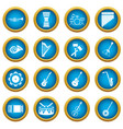 musical instruments icons blue circle set vector image vector image