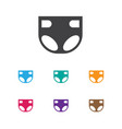of baby symbol on diaper icon vector image