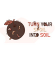 organic waste banner poster with worms apple and vector image