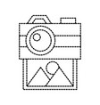 Photo camera and picture image gallery social vector image