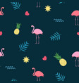 pink flamingo seamless pattern background vector image vector image