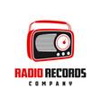 radio entertainment logo design vector image