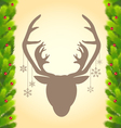 Reindeer and Christmas tree abstract background vector image