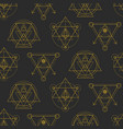 sacred geometry seamless pattern vector image vector image