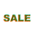 sale scribble text vector image