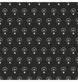 Seamless dark pattern white light bulbs on black vector image