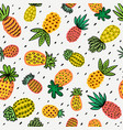 seamless sunny pineapple pattern decorative vector image vector image