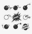 set bomb symbols vector image vector image