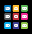 set colorful message icon for phone application vector image vector image