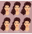 set different woman face shapes 2 vector image vector image