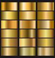 set gold gradient texture vector image vector image