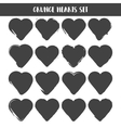 set hearts grunge stamps collection love vector image