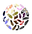shoes in shape of circle vector image vector image
