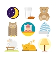 Sleep icons vector image vector image