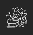 sleight ride chalk white icon on black background vector image