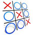 tic tac toe with match vector image