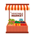 vegetable market natural eco healthy vector image
