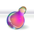 violet potion bottle isolated shadow is provided vector image