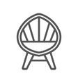 wooden armchair isolated icon in linear style vector image