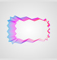 zigzag bright gradient rectangular frame stylized vector image vector image