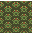 Floral retro pattern vector image