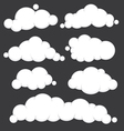 Clouds blue set vector image