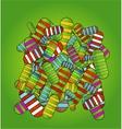 medic pills symbols background green color vector image