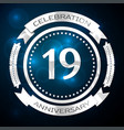18 18th eighteen years anniversary celebration vector image vector image
