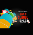 abstract back to school sale vector image vector image