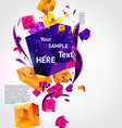 Abstract Template with Text Space vector image