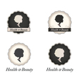 African American woman logo in frame with text vector image vector image