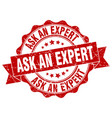 ask an expert stamp sign seal vector image vector image
