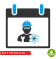 Atomic Engineer Calendar Day Eps Icon vector image vector image