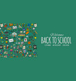back to school background for your design vector image