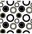 Black and white pattern with circles vector image vector image