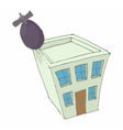 Bomb hit the home icon cartoon style vector image vector image